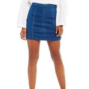 Free People Modern Femme Jean Skirt